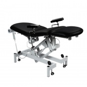 Sunflower Medical Black Fusion Electric Phlebotomy Chair with Tilting Seat