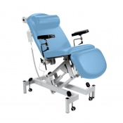 Sunflower Medical Cool Blue Fusion Electric Phlebotomy Chair with Tilting Seat
