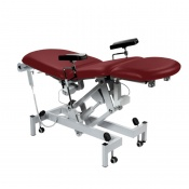 Sunflower Medical Red Wine Fusion Electric Phlebotomy Chair with Tilting Seat