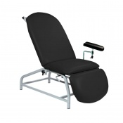 Sunflower Medical Black Fusion Fixed-Height Phlebotomy Chair with Adjustable Feet