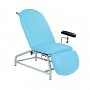 Sunflower Medical Cool Blue Fusion Fixed-Height Phlebotomy Chair with Adjustable Feet