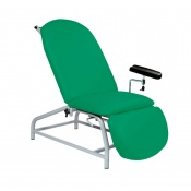 Sunflower Medical Green Fusion Fixed-Height Phlebotomy Chair with Adjustable Feet