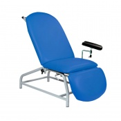 Sunflower Medical Mid Blue Fusion Fixed-Height Phlebotomy Chair with Adjustable Feet