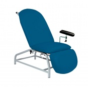 Sunflower Medical Navy Fusion Fixed-Height Phlebotomy Chair with Adjustable Feet