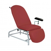 Sunflower Medical Red Wine Fusion Fixed-Height Phlebotomy Chair with Adjustable Feet