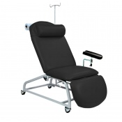 Sunflower Medical Black Fusion Fixed-Height Phlebotomy Chair with Locking Castors