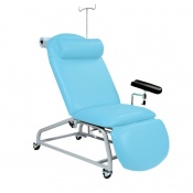 Sunflower Medical Cool Blue Fusion Fixed-Height Phlebotomy Chair with Locking Castors