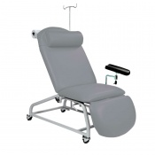 Sunflower Medical Grey Fusion Fixed-Height Phlebotomy Chair with Locking Castors