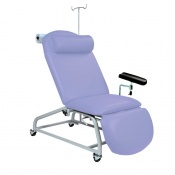 Sunflower Medical Lilac Fusion Fixed-Height Phlebotomy Chair with Locking Castors