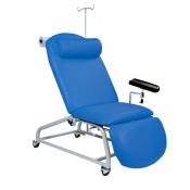 Sunflower Medical Mid Blue Fusion Fixed-Height Phlebotomy Chair with Locking Castors