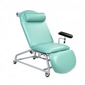 Sunflower Medical Mint Fusion Fixed-Height Phlebotomy Chair with Locking Castors
