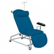 Sunflower Medical Navy Fusion Fixed-Height Phlebotomy Chair with Locking Castors