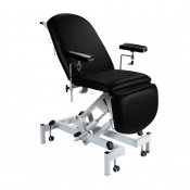 Sunflower Medical Black Fusion Hydraulic Height Phlebotomy Chair