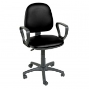 Sunflower Medical Black Gas-Lift Chair with Arm Rests