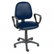 Sunflower Medical Navy Gas-Lift Chair with Arm Rests