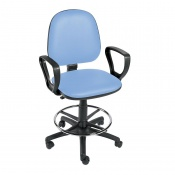 Sunflower Medical Cool Blue Gas-Lift Chair with Foot Ring and Arm Rests