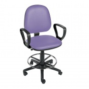 Sunflower Medical Lilac Gas-Lift Chair with Foot Ring and Arm Rests