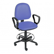 Sunflower Medical Mid Blue Gas-Lift Chair with Foot Ring and Arm Rests