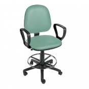 Sunflower Medical Mint Gas-Lift Chair with Foot Ring and Arm Rests