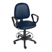 Sunflower Medical Navy Gas-Lift Chair with Foot Ring and Arm Rests