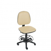 Sunflower Medical Beige Gas-Lift Chair with Foot Ring