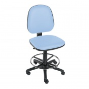 Sunflower Medical Cool Blue Gas-Lift Chair with Foot Ring