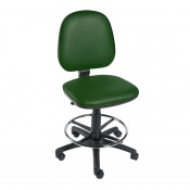 Sunflower Medical Green Gas-Lift Chair with Foot Ring