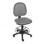 Sunflower Medical Grey Gas-Lift Chair with Foot Ring