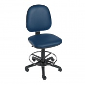 Sunflower Medical Navy Gas-Lift Chair with Foot Ring