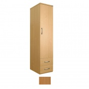 Sunflower Medical Beech Gents Single Wardrobe with Drawers