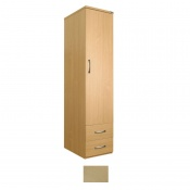 Sunflower Medical Maple Gents Single Wardrobe with Drawers