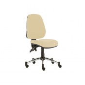Sunflower Medical Beige High-Back Twin-Lever Extreme Plus Consultation Chair with Chrome Base
