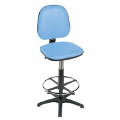 Sunflower Medical High-Level Cool Blue Gas-Lift Chair with Foot Ring and Glides