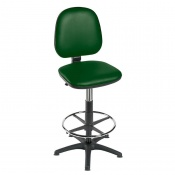 Sunflower Medical High-Level Green Gas-Lift Chair with Foot Ring and Glides