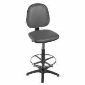 Sunflower Medical High-Level Grey Gas-Lift Chair with Foot Ring and Glides