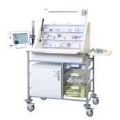Sunflower Medical Large Ward Drug and Medicine Dispensing Trolley with Tablet Arm and Two Storage Trays