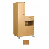 Sunflower Medical Beech Laminate-Faced MDF Left-Hand Wardrobe and Cabinet Unit