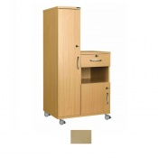 Sunflower Medical Maple Laminate-Faced MDF Left-Hand Wardrobe and Cabinet Unit