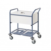 Sunflower Medical Locked Top Records Transfer Trolley