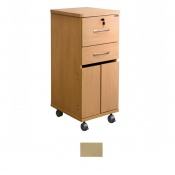 Sunflower Medical Maple Laminate-Faced MDF Bedside Cabinet with Lockable Drawer