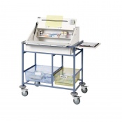 Sunflower Medical Medium Ward Drug and Medicine Dispensing Trolley with Two Storage Trays