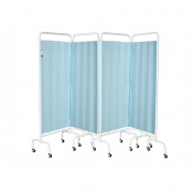 Sunflower Medical Pastel Blue Mobile Four-Panel Folding Hospital Ward Curtained Screen