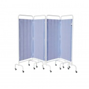 Sunflower Medical Summer Blue Mobile Four-Panel Folding Hospital Ward Curtained Screen