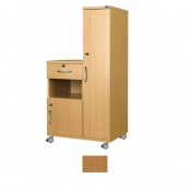 Sunflower Medical Beech Laminate-Faced MDF Right-Hand Wardrobe and Cabinet Unit