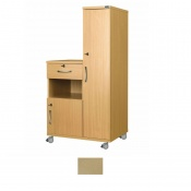 Sunflower Medical Maple Laminate-Faced MDF Right-Hand Wardrobe and Cabinet Unit
