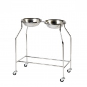 Sunflower Medical Side by Side Double Bowl Stand with Two Bowls
