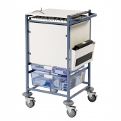 Sunflower Medical Small Enclosed Sides Medical Notes Trolley
