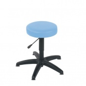 Sunflower Medical Cool Blue Gas-Lift Stool with Glides