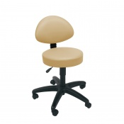 Sunflower Medical Beige Gas-Lift Stool with Back Rest