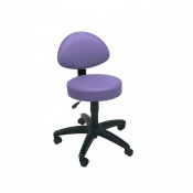 Sunflower Medical Lilac Gas-Lift Stool with Back Rest